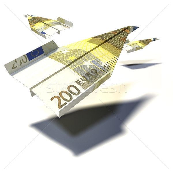 Paper plane from a 200 Euro bill Stock photo © Ustofre9