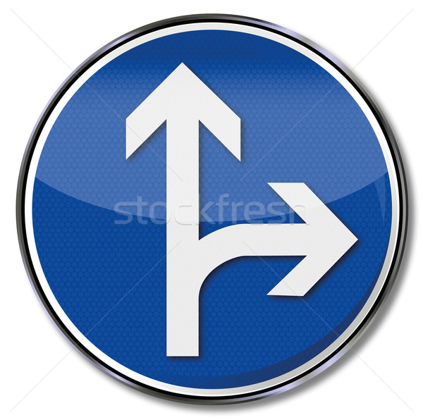 Sign arrows to the right and straight on Stock photo © Ustofre9