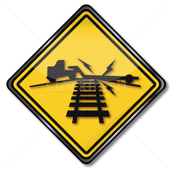 Warning sign surcharge on rail Stock photo © Ustofre9