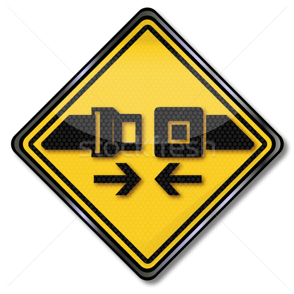 Sign please buckle and fasten your seatbelts Stock photo © Ustofre9