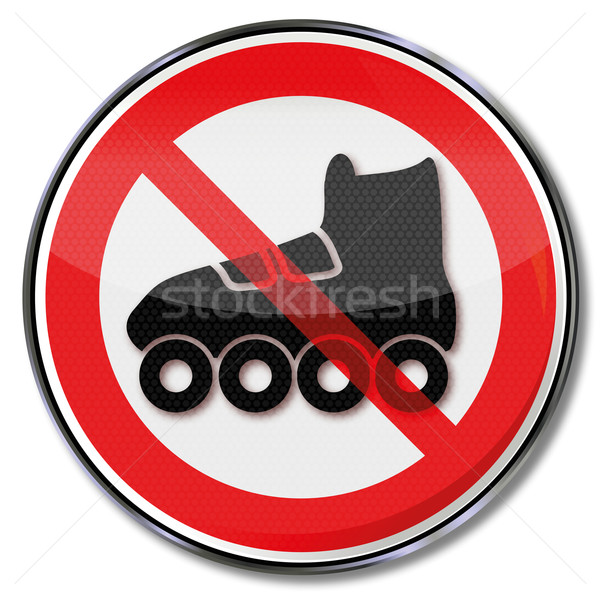 Prohibition sign for roller skates Stock photo © Ustofre9