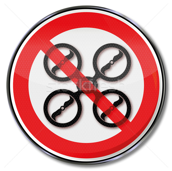 Prohibition sign for drones Stock photo © Ustofre9