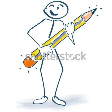 Stick figure Стрелки щит знак войны борьбе Сток-фото © Ustofre9