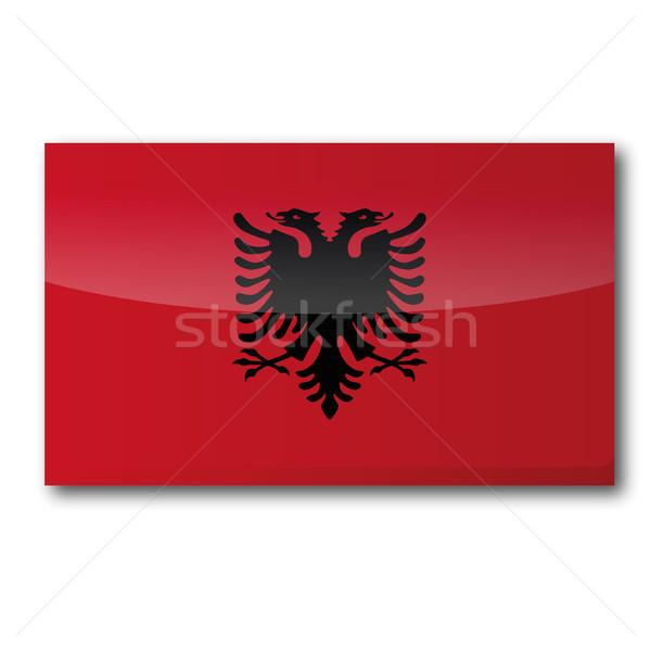 Flag Albania Stock photo © Ustofre9