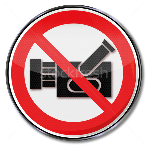 Prohibition sign for filming Stock photo © Ustofre9