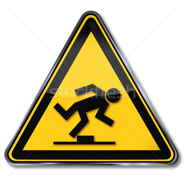 Danger sign caution tripping hazard Stock photo © Ustofre9