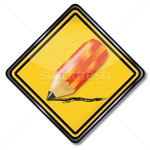 Sign red pencil, cutbacks and downsizing Stock photo © Ustofre9