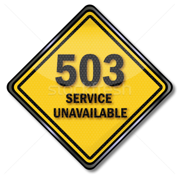 Computer sign 503 service unavailable Stock photo © Ustofre9