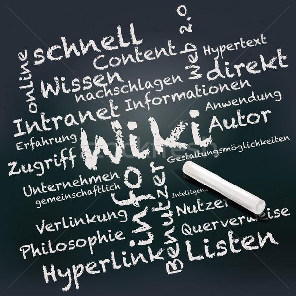 黒板 チョーク 単語 ウィキ ビジネス 学校 ストックフォト © Ustofre9