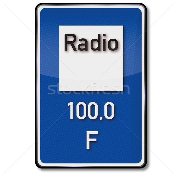 Sinaleiro rádio educação assinar lei tráfego Foto stock © Ustofre9