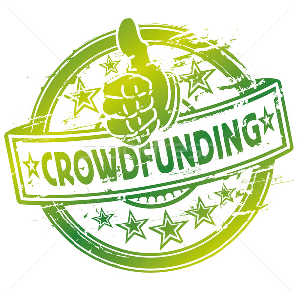 Rubber stamp crowdfunding Stock photo © Ustofre9