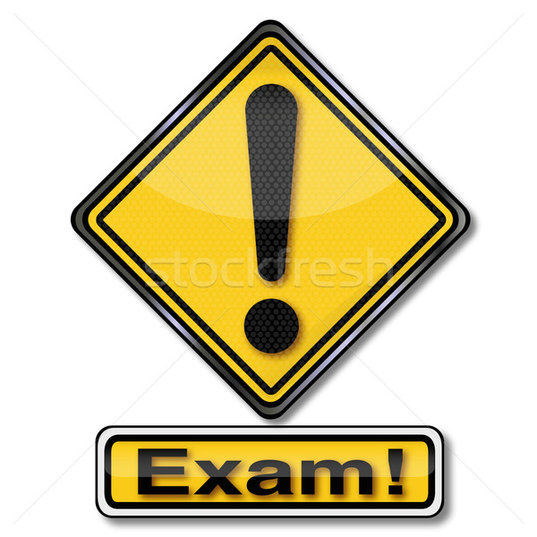 Sign attention exam Stock photo © Ustofre9