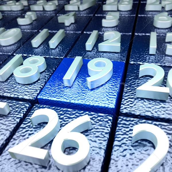 календаря день школы промышленности свободу праздник Сток-фото © Ustofre9