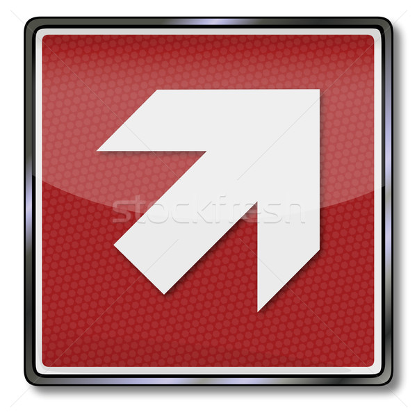Fire safety sign with up arrow right Stock photo © Ustofre9