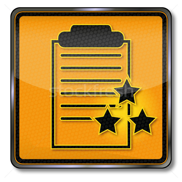 Shield clipboard with certificate Stock photo © Ustofre9