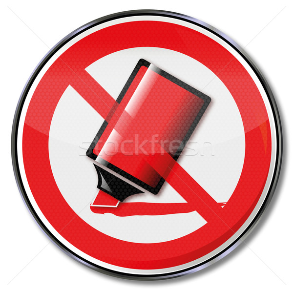 Sign no dismissal with red pen strokes Stock photo © Ustofre9