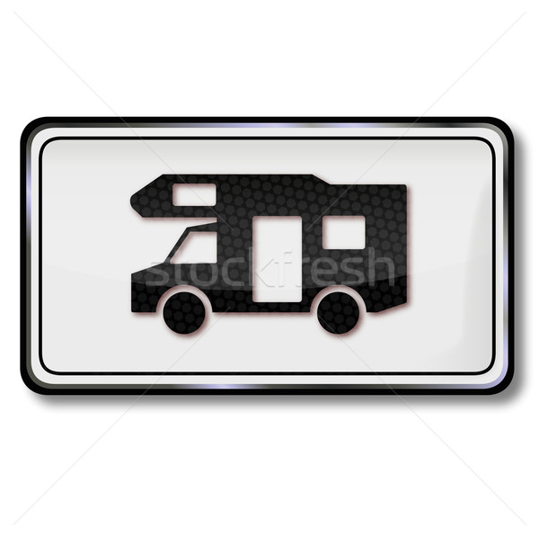 Traffic sign free for camping and caravans Stock photo © Ustofre9