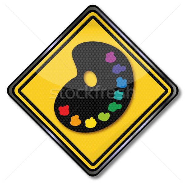Sign painter's palette and color Stock photo © Ustofre9