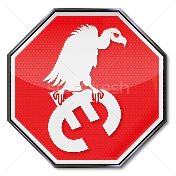 Stop sign and euro vulture  Stock photo © Ustofre9