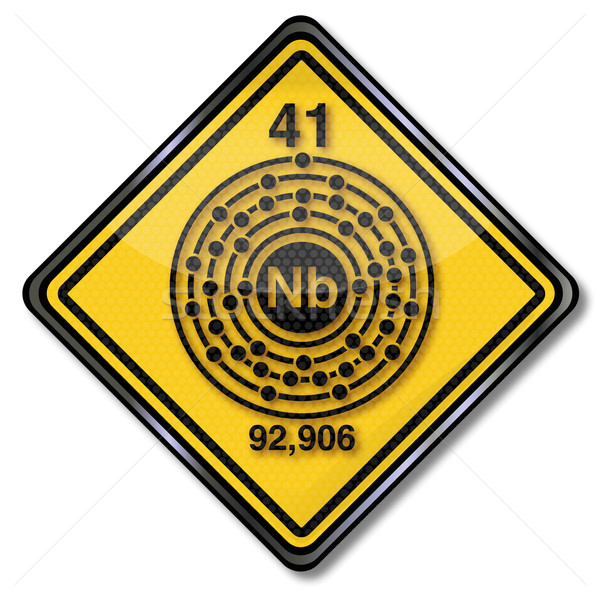 Sign chemistry character chemistry shield niobium Stock photo © Ustofre9
