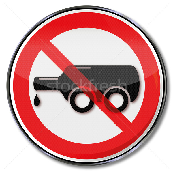 Prohibition sign for drink driving and bottle on wheels Stock photo © Ustofre9