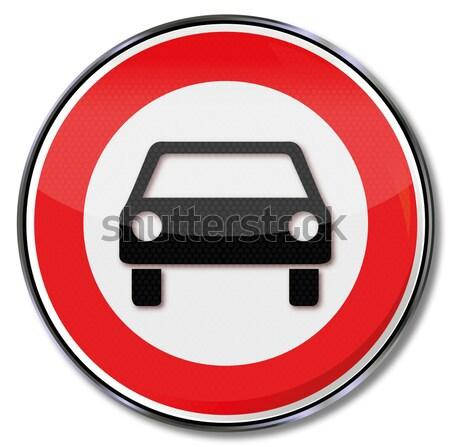 Felirat nem autó utca sebesség forgalom Stock fotó © Ustofre9