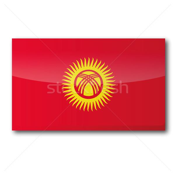 Flag Kyrgyzstan Stock photo © Ustofre9