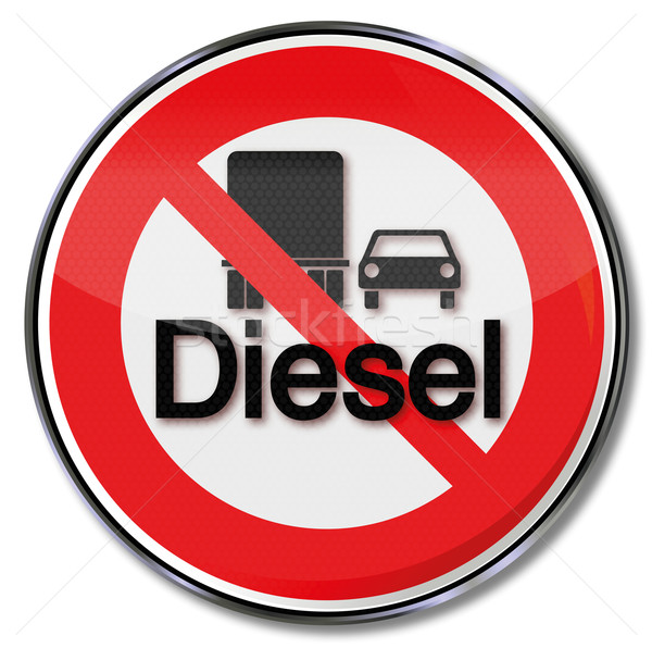 Prohibition sign diesel Stock photo © Ustofre9