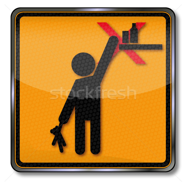 Danger sign warning please keep out of reach from children Stock photo © Ustofre9