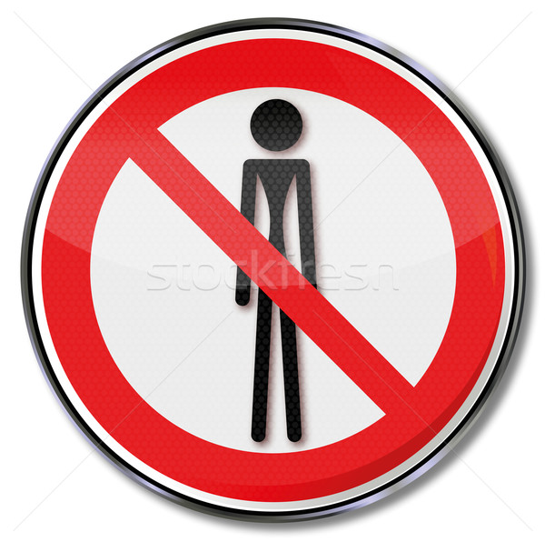 Prohibition sign hunger, weight loss and famine Stock photo © Ustofre9