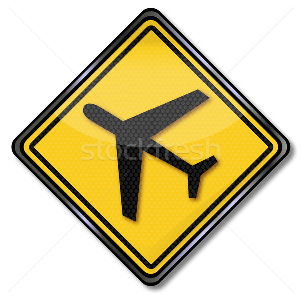 Sign aircraft and airport Stock photo © Ustofre9