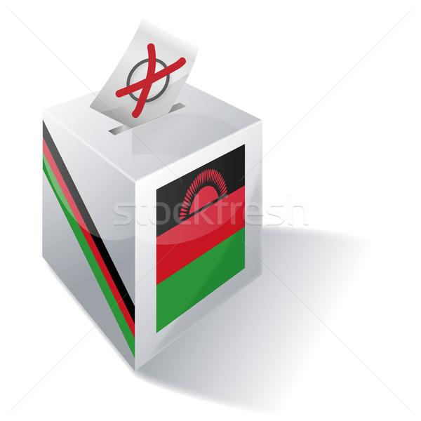 Stemmen vak Malawi bos kruis vlag Stockfoto © Ustofre9