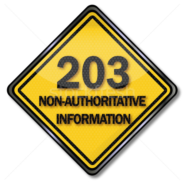 Computer sign 203 non-authoritative information  Stock photo © Ustofre9