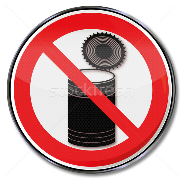 Prohibition sign with canning dose Stock photo © Ustofre9