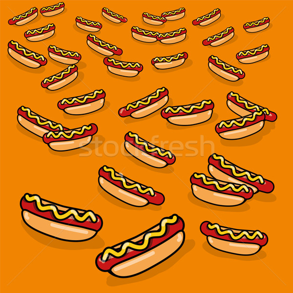 Ornament with many hotdogs  Stock photo © Ustofre9