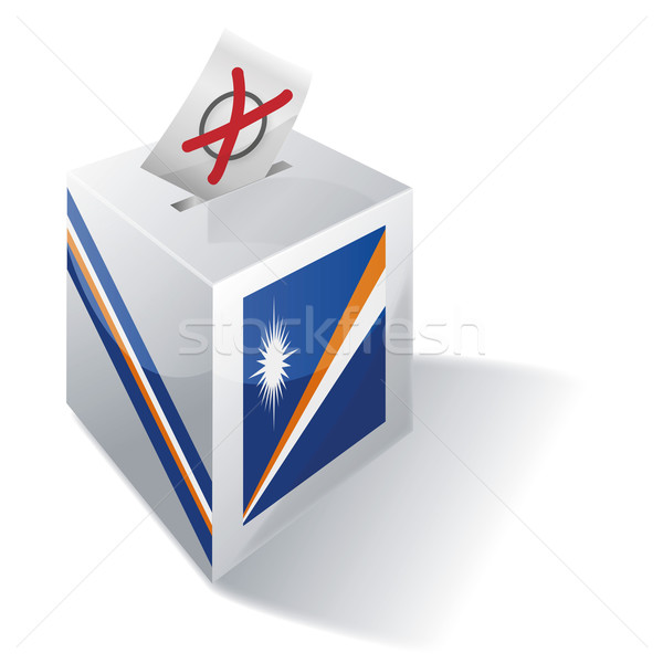 Ballot box Marshall Islands Stock photo © Ustofre9