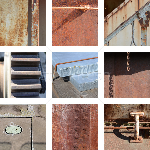 Nine images of rusty structures Stock photo © Ustofre9