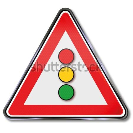 Imzalamak trafik ışıkları ışık yeşil trafik işaretleri Stok fotoğraf © Ustofre9