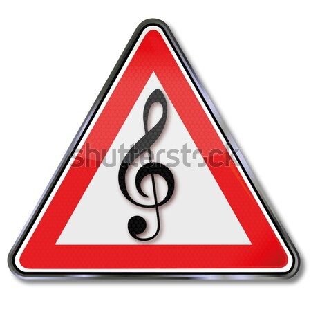 Sign musical note and music school Stock photo © Ustofre9