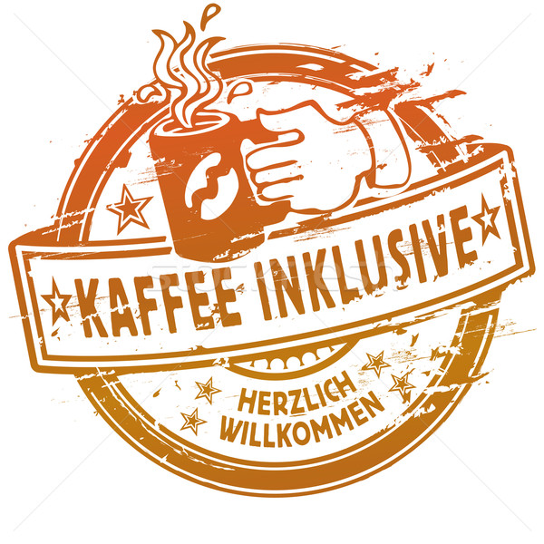 Rubber stamp coffee inclusive  Stock photo © Ustofre9