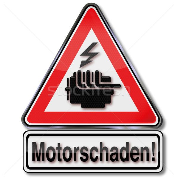 Sign caution engine failure  Stock photo © Ustofre9