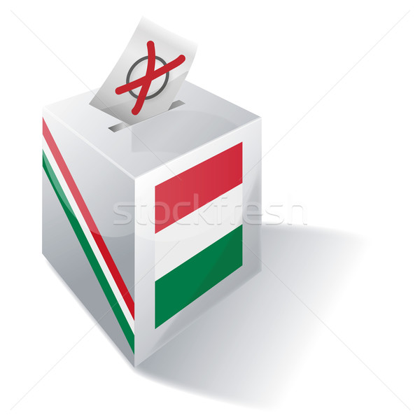 Ballot box Hungary Stock photo © Ustofre9