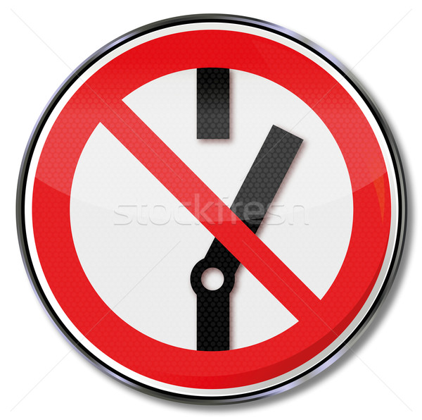 Prohibition sign do not turn on and switch Stock photo © Ustofre9