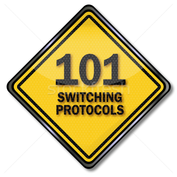 Computer sign 101 switching protocols  Stock photo © Ustofre9