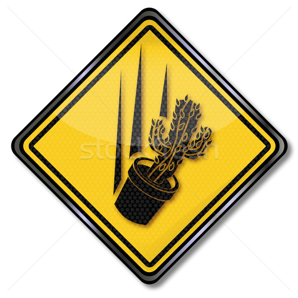 Shield throw a cactus  Stock photo © Ustofre9