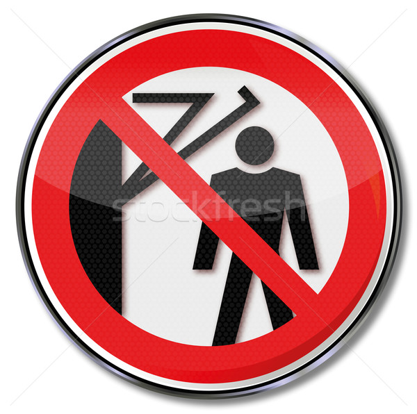 Prohibition sign behind the arm occur prohibited  Stock photo © Ustofre9
