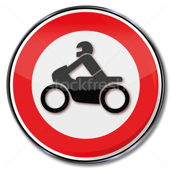 Sign ban on motorcycles Stock photo © Ustofre9