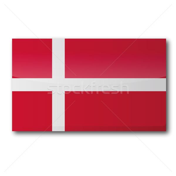 флаг Дания карта евро карт Европа Сток-фото © Ustofre9