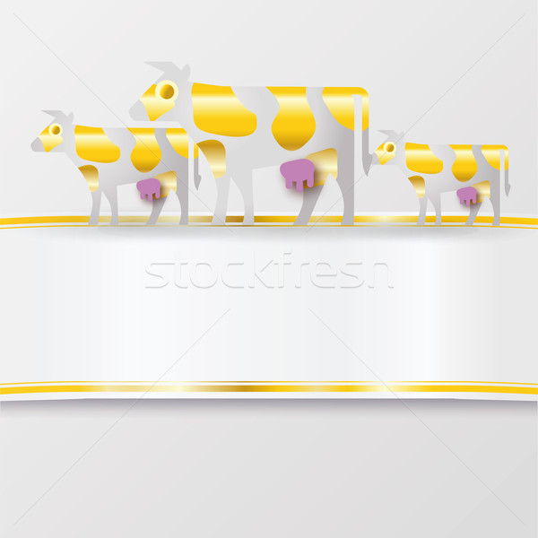 Band with golden cows Stock photo © Ustofre9