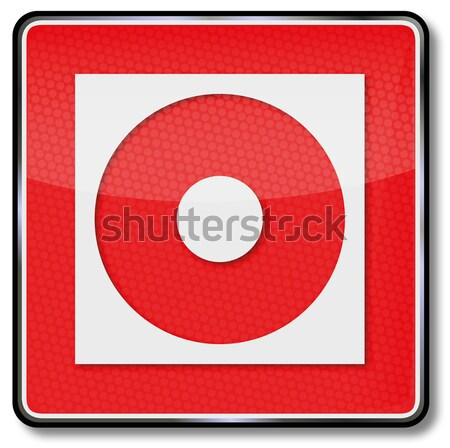 Fire safety sign fire alert Stock photo © Ustofre9